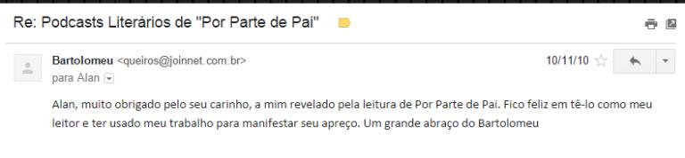 E-mail Bartolomeu Campos Queirós